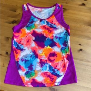 Purple tank top With mash